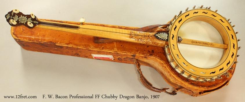 F. W. Bacon Professional FF Chubby Dragon Banjo, 1907 Full Rear View