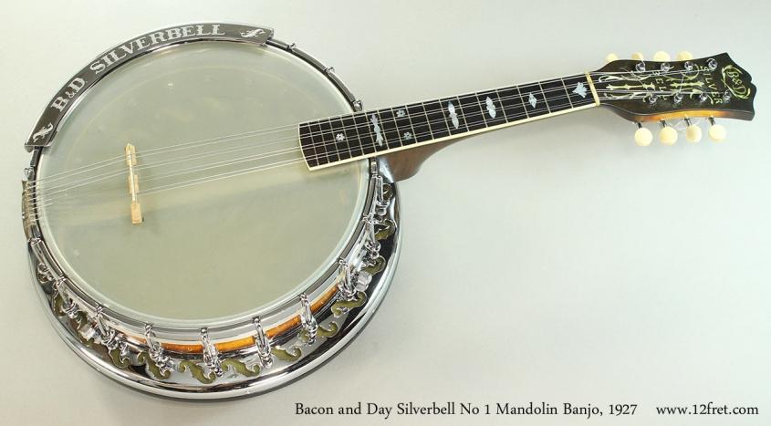 Bacon and Day Silverbell No 1 Mandolin Banjo, 1927 Full Front View