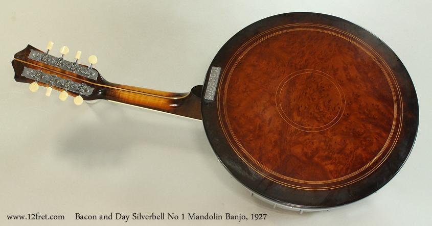 Bacon and Day Silverbell No 1 Mandolin Banjo, 1927 Full Rear View