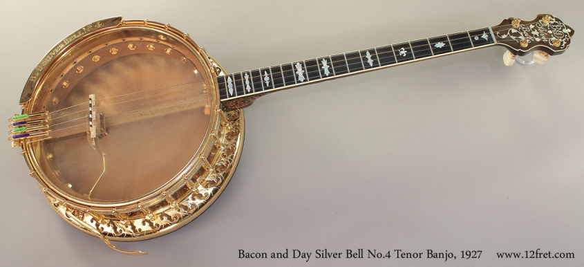 Bacon and Day Silver Bell No.4 Tenor Banjo, 1927 full front view