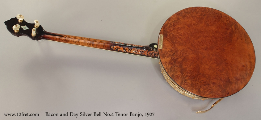 Bacon and Day Silver Bell No.4 Tenor Banjo, 1927 full rear view