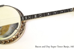 Bacon and Day Super Tenor Banjo, 1927 Full Front View