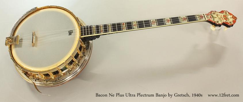 Bacon Ne Plus Ultra Plectrum Banjo by Gretsch, 1940s Full Front View