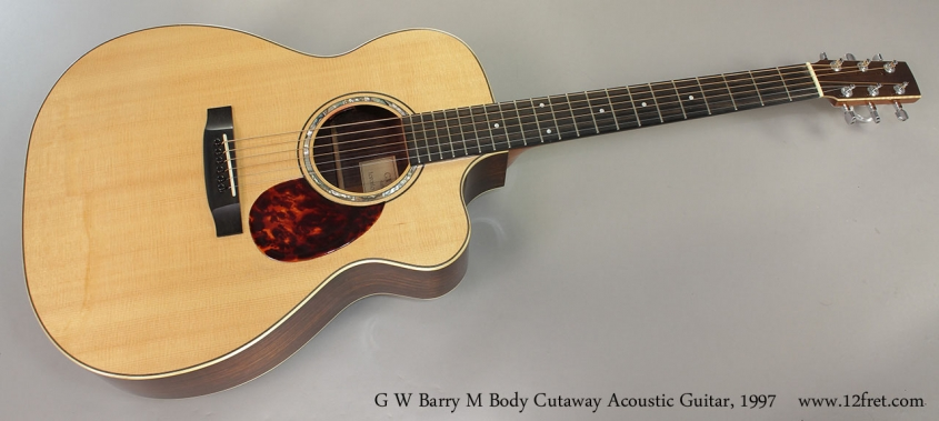 G W Barry M Body Cutaway Acoustic Guitar, 1997 Full Front View