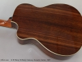 G W Barry M Body Cutaway Acoustic Guitar, 1997 Back
