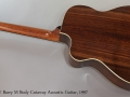 G W Barry M Body Cutaway Acoustic Guitar, 1997 Full Rear View