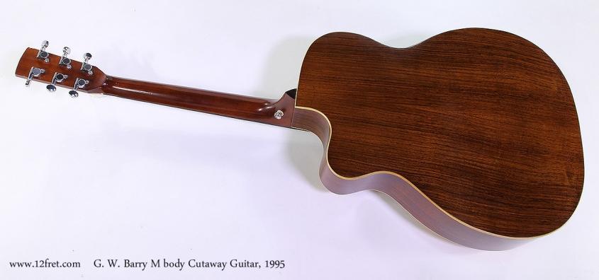 G. W. Barry M body Cutaway Guitar, 1995 Full Rear View
