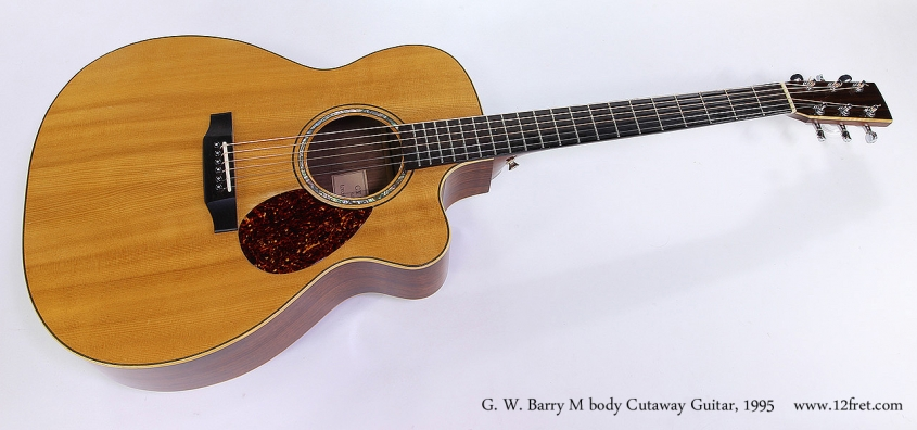 G. W. Barry M body Cutaway Guitar, 1995 Full Front View