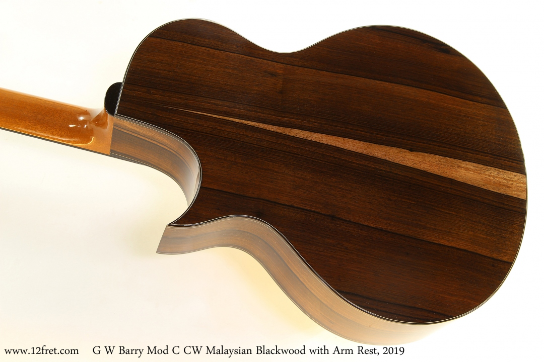 G W Barry Mod C CW Malaysian Blackwood with Arm Rest, 2019 Back View