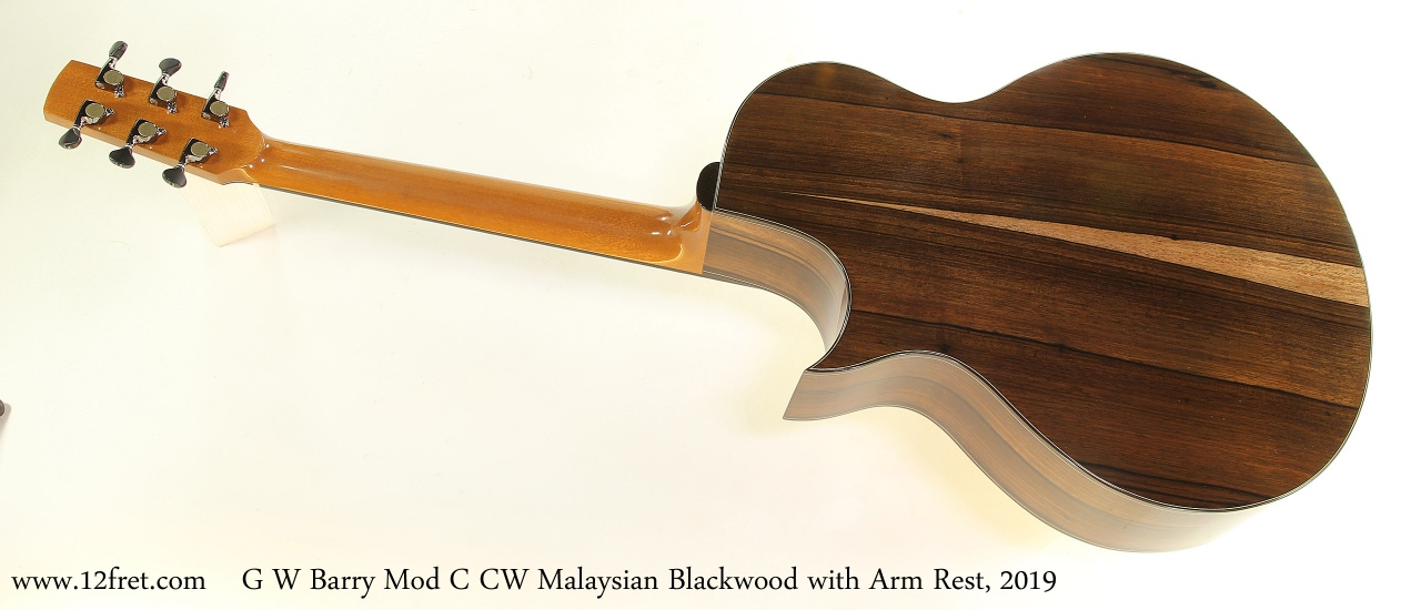 G W Barry Mod C CW Malaysian Blackwood with Arm Rest, 2019 Full Rear View