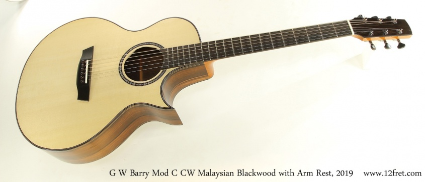 G W Barry Mod C CW Malaysian Blackwood with Arm Rest, 2019 Full Front View