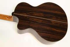 G W Barry Mod C Ziricote Cutaway Steel String Guitar, 2018   Back View