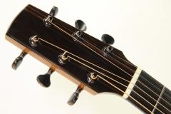 G W Barry Mod C Ziricote Cutaway Steel String Guitar, 2018   Head Front View 2