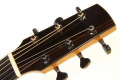 G W Barry Mod C Ziricote Cutaway Steel String Guitar, 2018   Head Front VIew 1