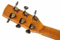 G W Barry Mod C Ziricote Cutaway Steel String Guitar, 2018   Head Rear View