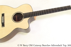 G W Barry OM Cutaway Bearclaw Adirondack Top, 2020 Full Front View