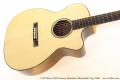 G W Barry OM Cutaway Bearclaw Adirondack Top, 2020 Top View