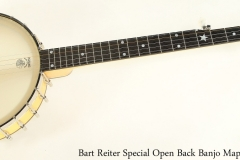 Bart Reiter Special Open Back Banjo Maple, 2008 Full Front View