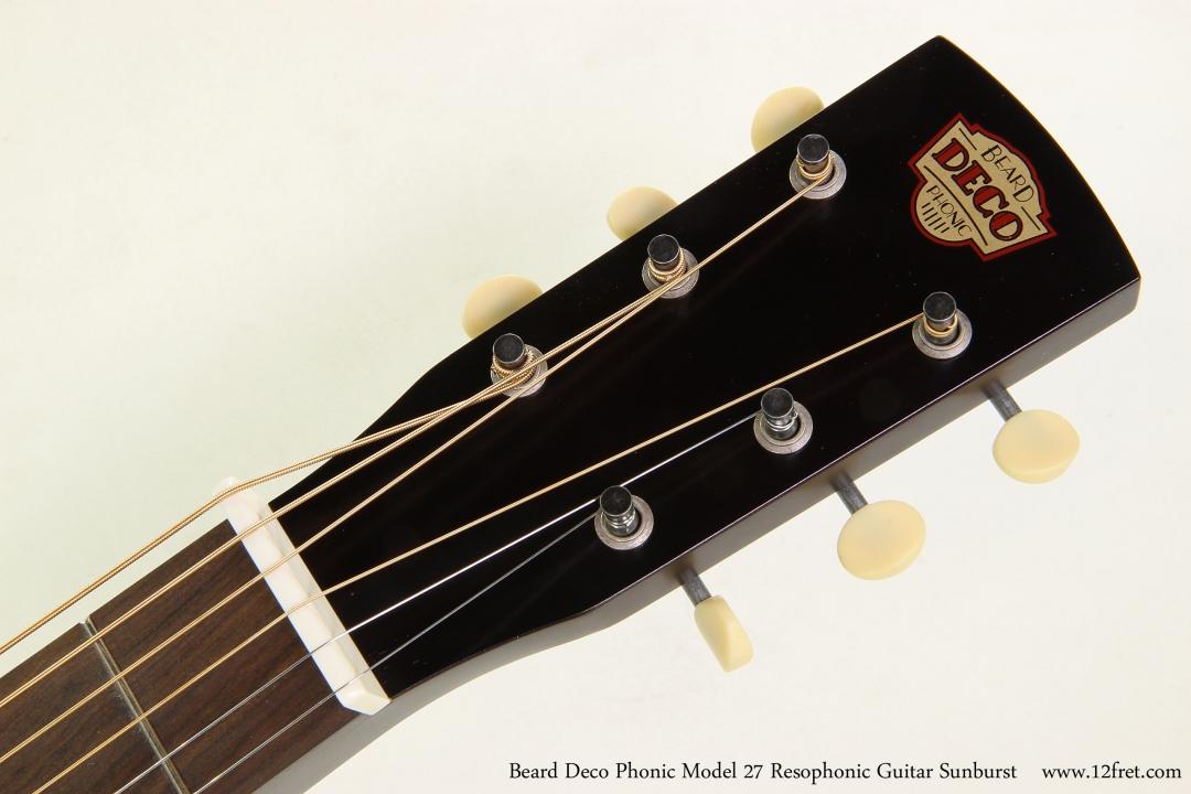 Beard Deco Phonic Model 27 Resophonic Guitar Sunburst  Head Front View