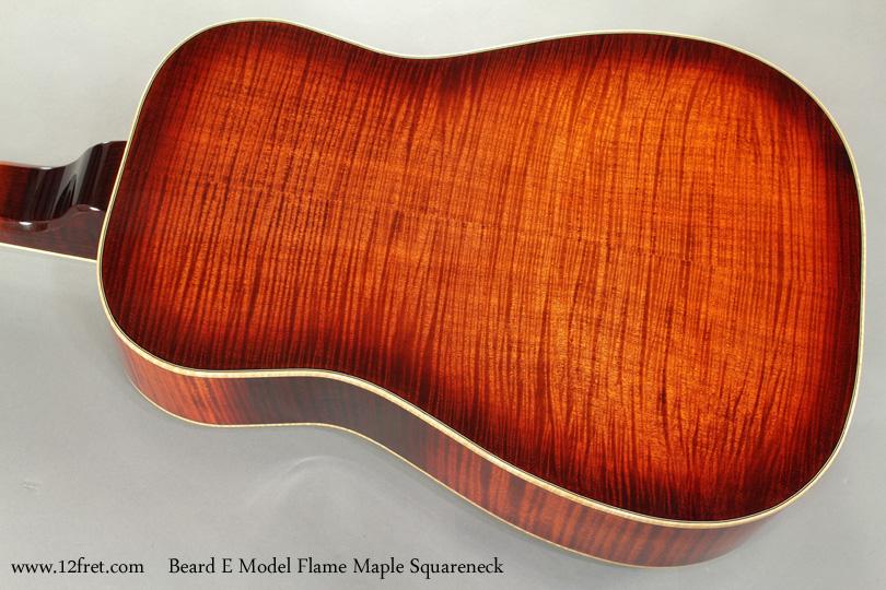 Beard E Model Flame Maple Squareneck Resophonic back