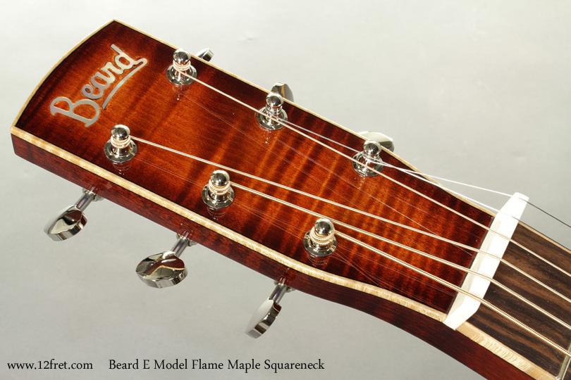 Beard E Model Flame Maple Squareneck Resophonic head front