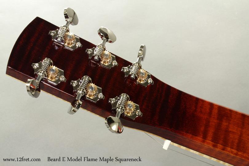 Beard E Model Flame Maple Squareneck Resophonic head rear
