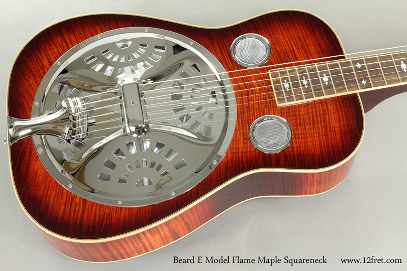 Beard E Model Flame Maple Squareneck Resophonic top