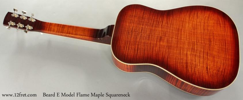 Beard E Model Flame Maple Squareneck Resophonic full rear view