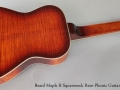 Beard Maple R Squareneck Reso-Phonic Guitar, 2011 Full Rear View