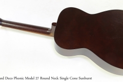 Beard Deco Phonic Model 27 Round Neck Single Cone Sunburst   Full Rear View
