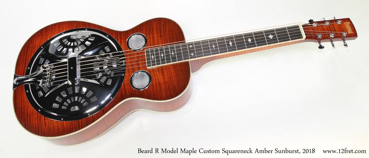 Beard R Model Maple Custom Squareneck Amber Sunburst, 2018  Full Front View
