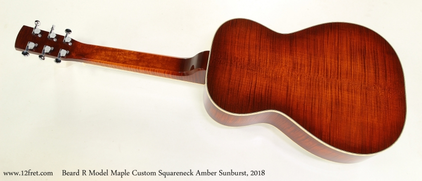 Beard R Model Maple Custom Squareneck Amber Sunburst, 2018  Full Rear View