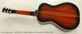 Paul Beard R Model Squareneck Resophonic Guitar, 2011 Full Rear View
