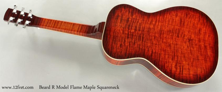 Beard R Model Flame Maple Squareneck Resophonic Guitar full rear view