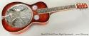 Beard R Model Flame Maple Squareneck Resophonic Guitar full front view