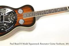 Paul Beard R Model Squareneck Resonator Guitar Sunburst, 2013   Full Front View