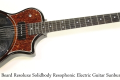 Beard Resoluxe Solidbody Resophonic Electric Guitar Sunburst, 2018 Full Front View