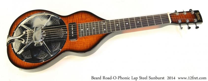 Beard Road-O-Phonic Lap Steel Sunburst 2014 Full Front View