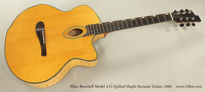 Allan Beardsell Model 4 G Quilted Maple Acoustic Guitar, 2004 Full Front View