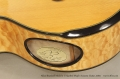 Allan Beardsell Model 4 G Quilted Maple Acoustic Guitar, 2004  Label View
