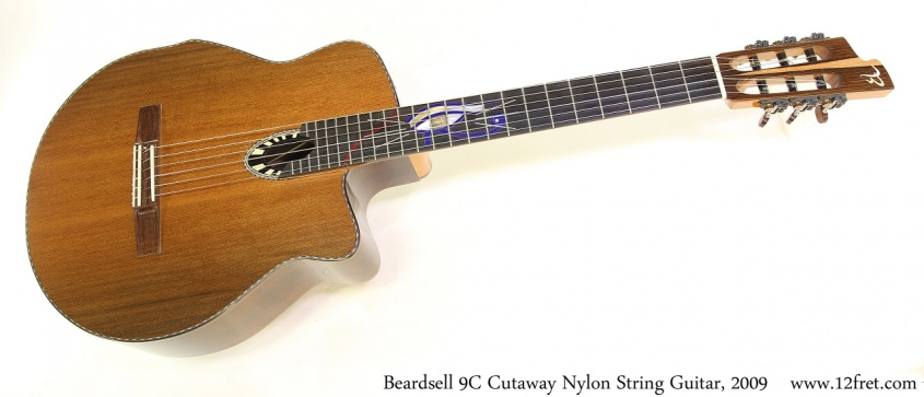 Beardsell 9C Cutaway Nylon String Guitar, 2009 Full Front View