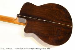 Beardsell 9C Cutaway Nylon String Guitar, 2009 Back View