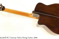 Beardsell 9C Cutaway Nylon String Guitar, 2009 Full Rear View