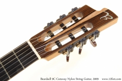 Beardsell 9C Cutaway Nylon String Guitar, 2009 Head Front View