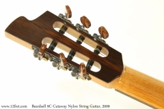 Beardsell 9C Cutaway Nylon String Guitar, 2009 Head Rear View
