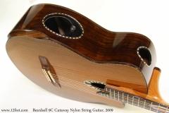 Beardsell 9C Cutaway Nylon String Guitar, 2009 Side View