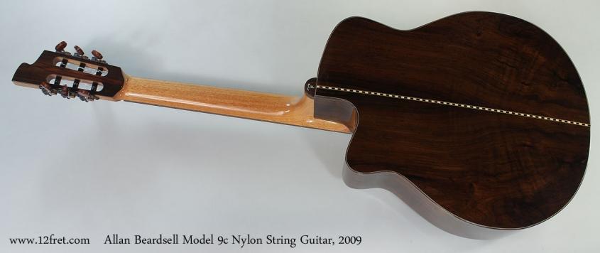 Allan Beardsell Model 9c Nylon String Guitar, 2009 Full Rear View