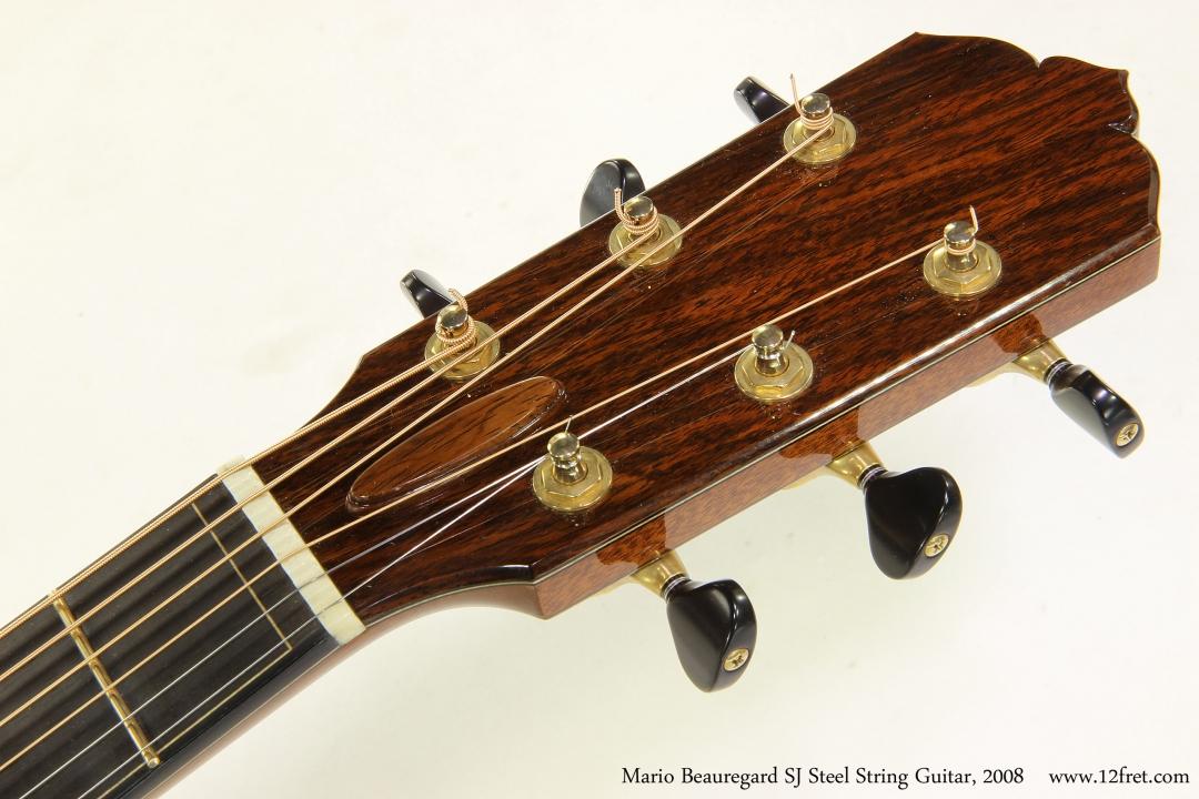 Mario Beauregard SJ Steel String Guitar, 2008   Head Front View