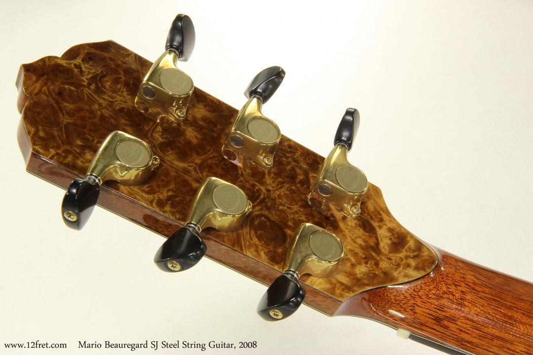 Mario Beauregard SJ Steel String Guitar, 2008   Head Rear View