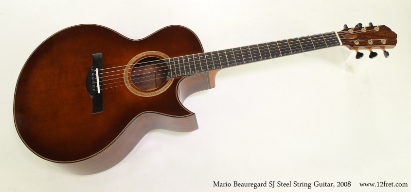 Mario Beauregard SJ Steel String Guitar, 2008   Full Front View